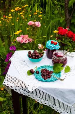 Čerešňový džem s vanilkou foodphoto