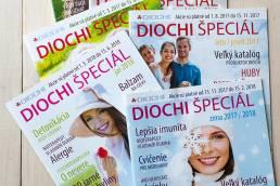 Content marketing, tvorba firemného časopisu DIOCHI špeciál, obsah aj grafika